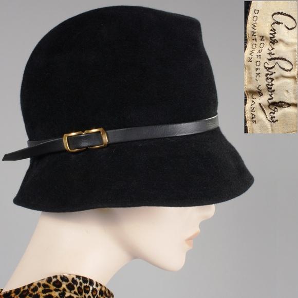 fe24ddad Vintage Accessories | Black Flapper Cloche Hat | Poshmark